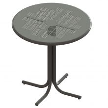 "Thomas Steele Bar Cafe Table with Tub base and 42"" Perforated Metal top"