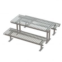 Carnival Picnic Table w/ seats - CRTP-6S-SF-Platinum