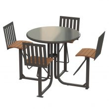 Ashton Bar Height Courtyard table ASTB-4B