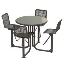 State Street Bar Height Courtyard Table - SSTB - 4B