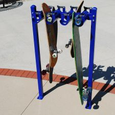 Skateboard Rack w/ boards