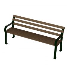 Arcadia 6 foot bench with Recycled Plastic Boards