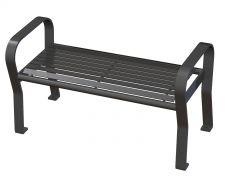 Carnival Bench - CRF-4-HS-Gunmetal