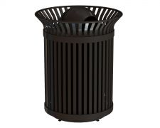 Windsor Trash Receptacle - WNTR-36-Gunmetal with Dome Lid