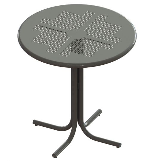 Wondrous Cafe Table Bar Height Tube Base Gmtry Best Dining Table And Chair Ideas Images Gmtryco
