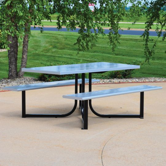 Wingra Table with Perforated top & seats
