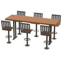Walden Picnic Bar Height Table