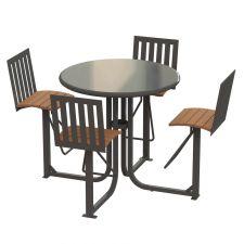 Ashton Courtyard Bar Height Table