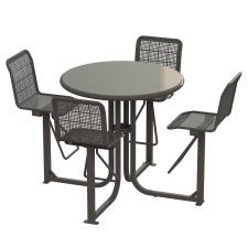 State Street Courtyard Bar Height Table