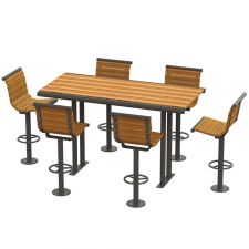 Fairway Picnic Bar Height Table