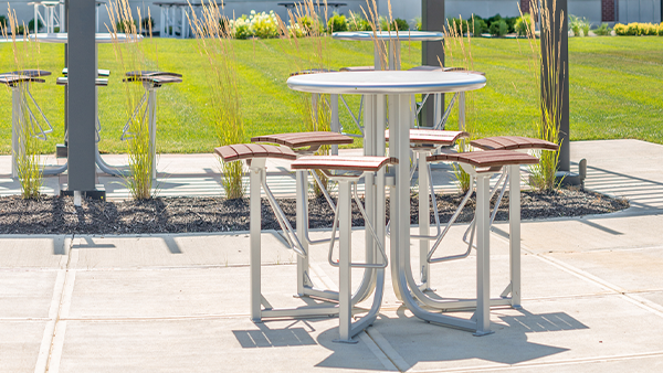 Bar Height Courtyard Table