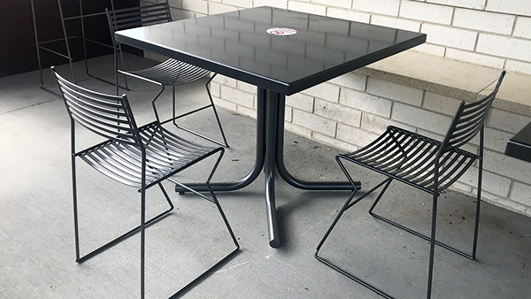 Metal Cafe Tables and Chairs
